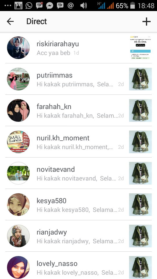 Direct Message Instagram